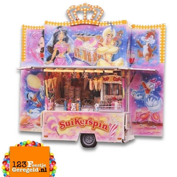 Suikerspin/Popcorn Kraam Verhuur Huur Kermis Evenementen www.123FeestjeGeregeld.nl