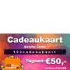 123feestjegeregeld.nl / 123cadeaukaart.nl 50 euro